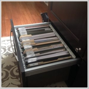 organized filing system