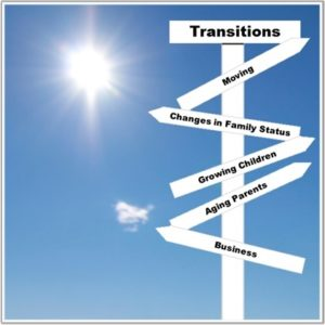Keep organized through transitions