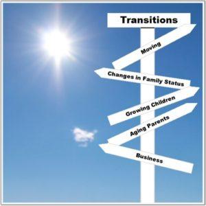 Keep organized through transitions
